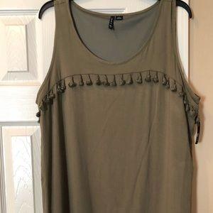 🍸Tassel Fringe Olive Dress